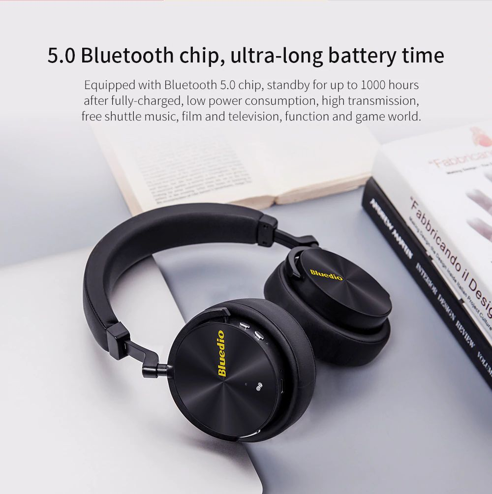 Bluedio T5 Active Noise Cancelling Bluetooth Headphone (9)