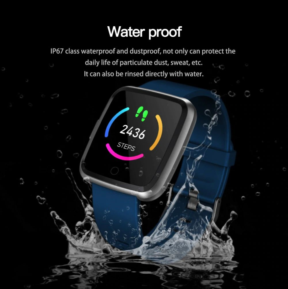 Huawise Y7 Smartwatch With Silicone Strap (9)