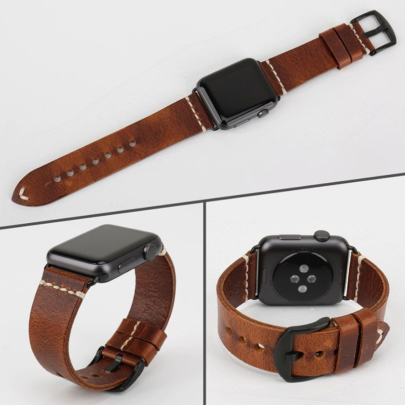 Leather Watchband For Apple Watch (4)