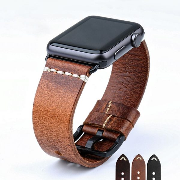 Leather Watchband For Apple Watch (7)