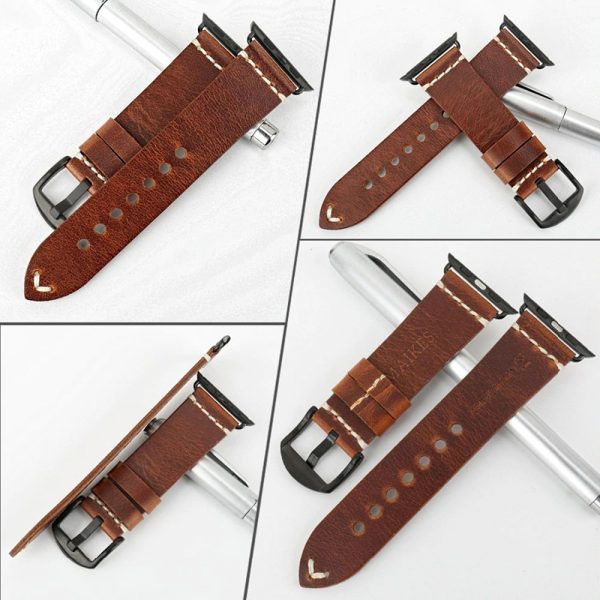 Leather Watchband For Apple Watch (8)