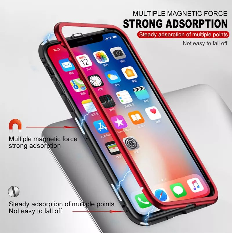 Magnetic Adsorption Case For Iphone X (5)