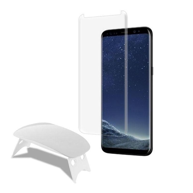 Nano Liquid Full Glue Tempered Glass With Uv Light For Samsung Galaxy Note S8 Plus