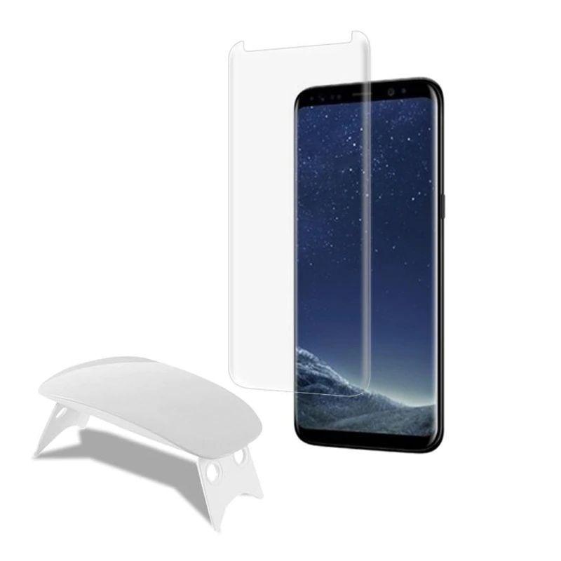 Nano Liquid Full Glue Tempered Glass With Uv Light For Samsung Galaxy Note S8