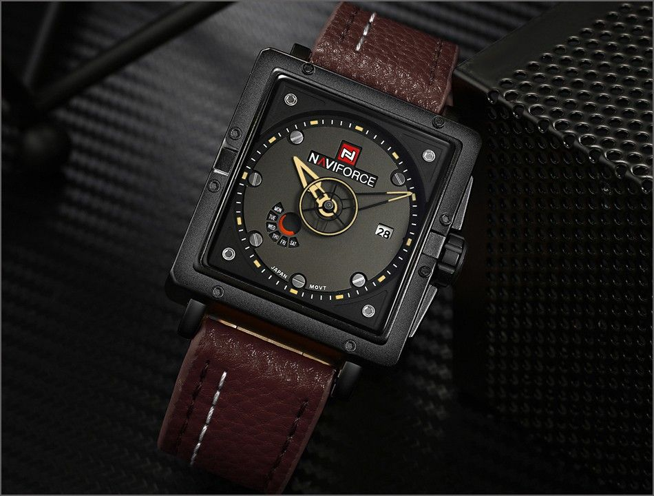 Naviforce 9065 Movt Square Watch (11)