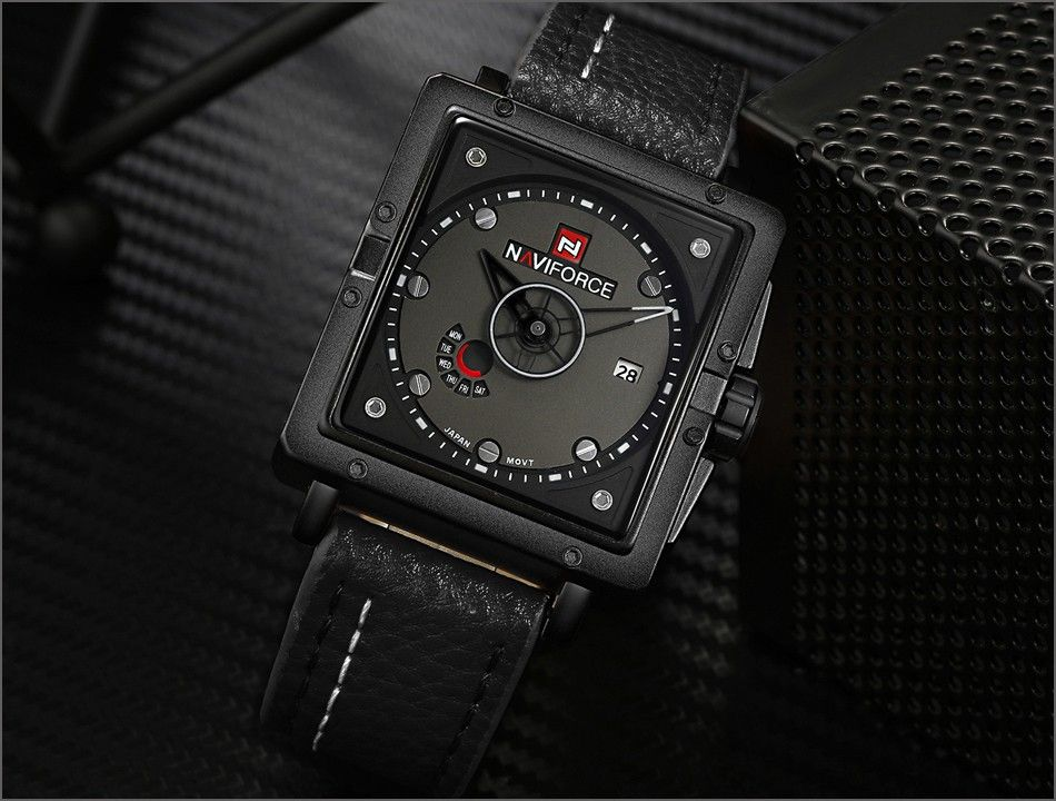 Naviforce 9065 Movt Square Watch (3)