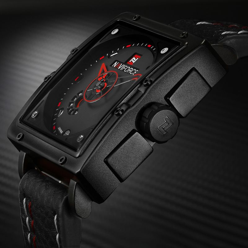 Naviforce 9065 Movt Square Watch (4)