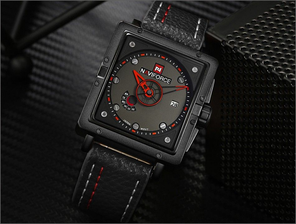 Naviforce 9065 Movt Square Watch (5)
