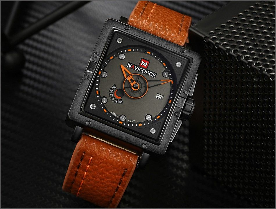 Naviforce 9065 Movt Square Watch (6)