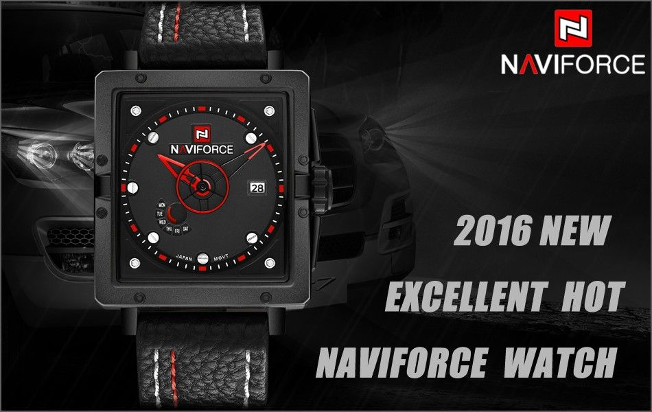 Naviforce 9065 Movt Square Watch (7)