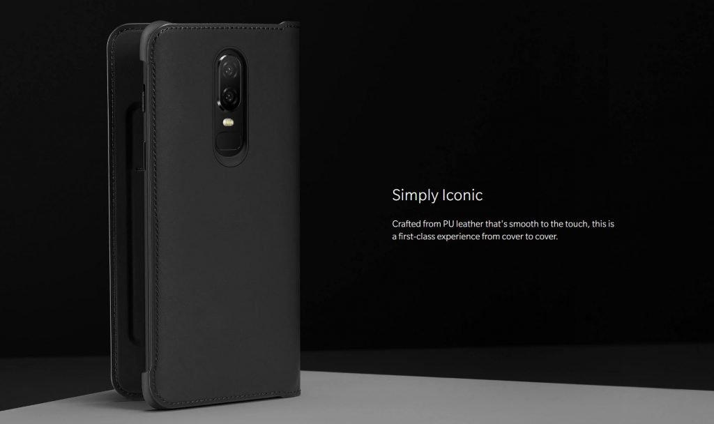 Official Oneplus 6 Flip Cover Black (1)