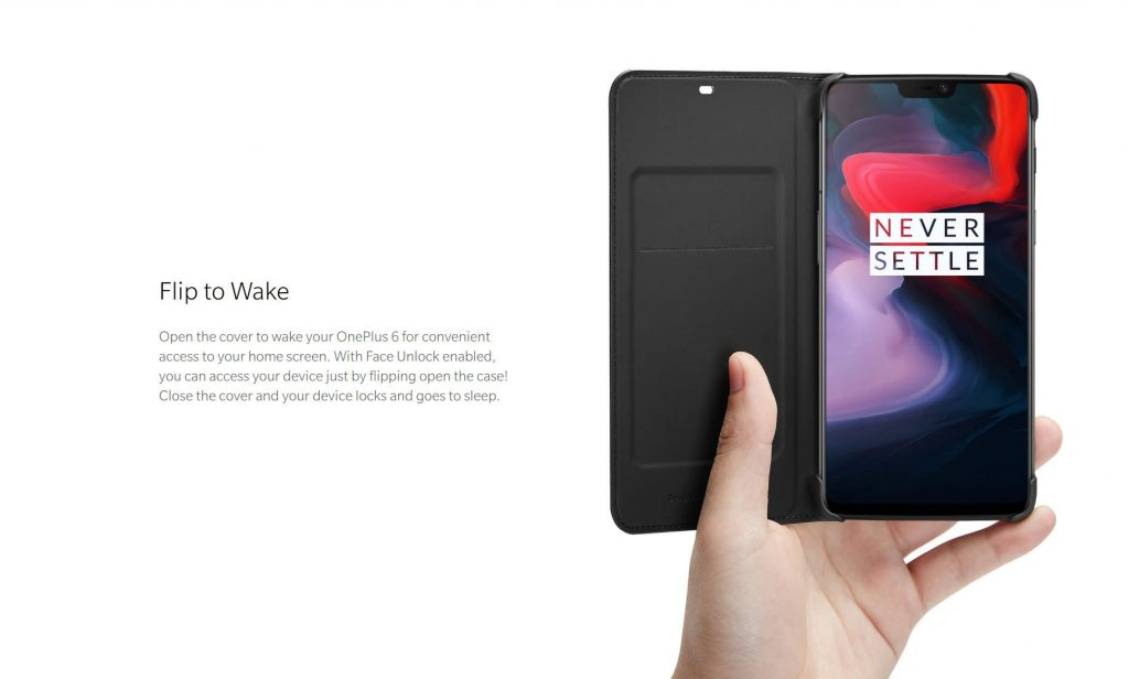 Official Oneplus 6 Flip Cover Black (4)