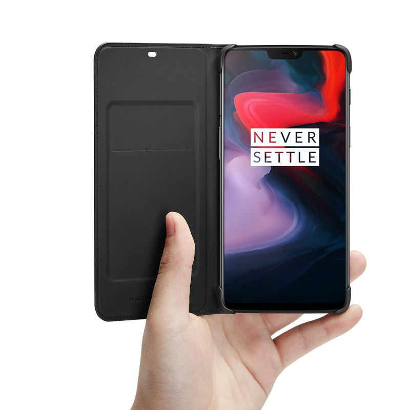Official Oneplus 6 Flip Cover Black (5)