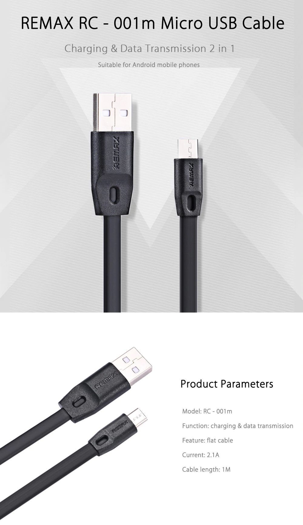 Remax Full Speed Micro Usb Data Cable Rc 001m (4)