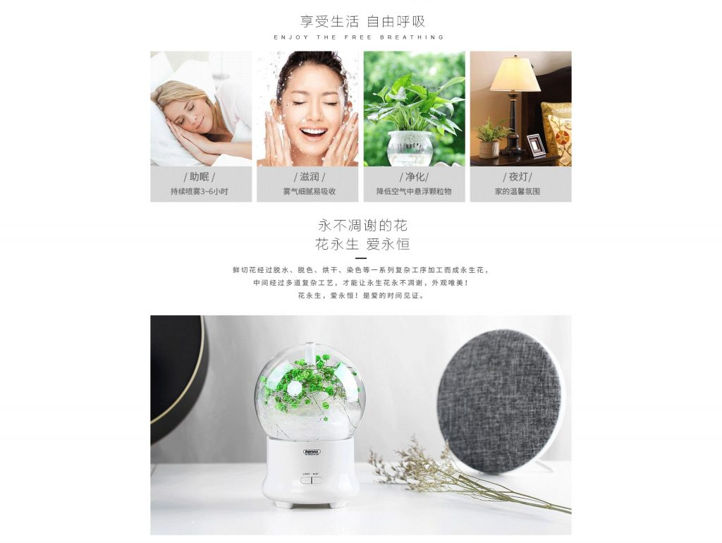 Remax Rt A700 Flowers Aroma Lamp Humidifier (2)