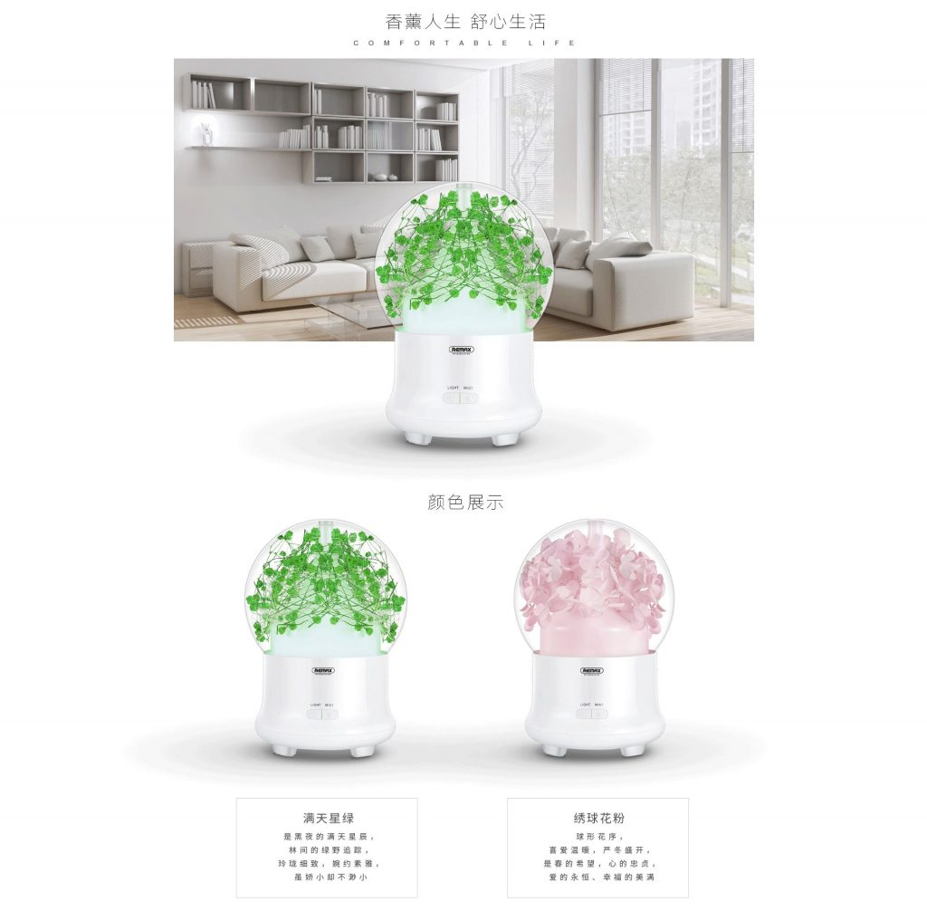 Remax Rt A700 Flowers Aroma Lamp Humidifier (9)