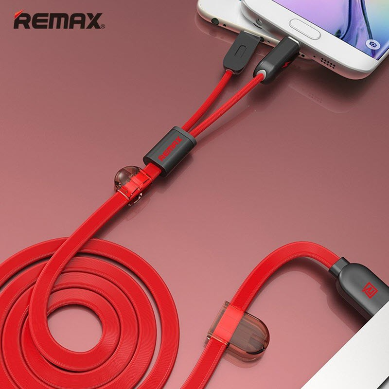 Remax Twins Series Rc 025t Cable For Lightning Micro Usb (11)