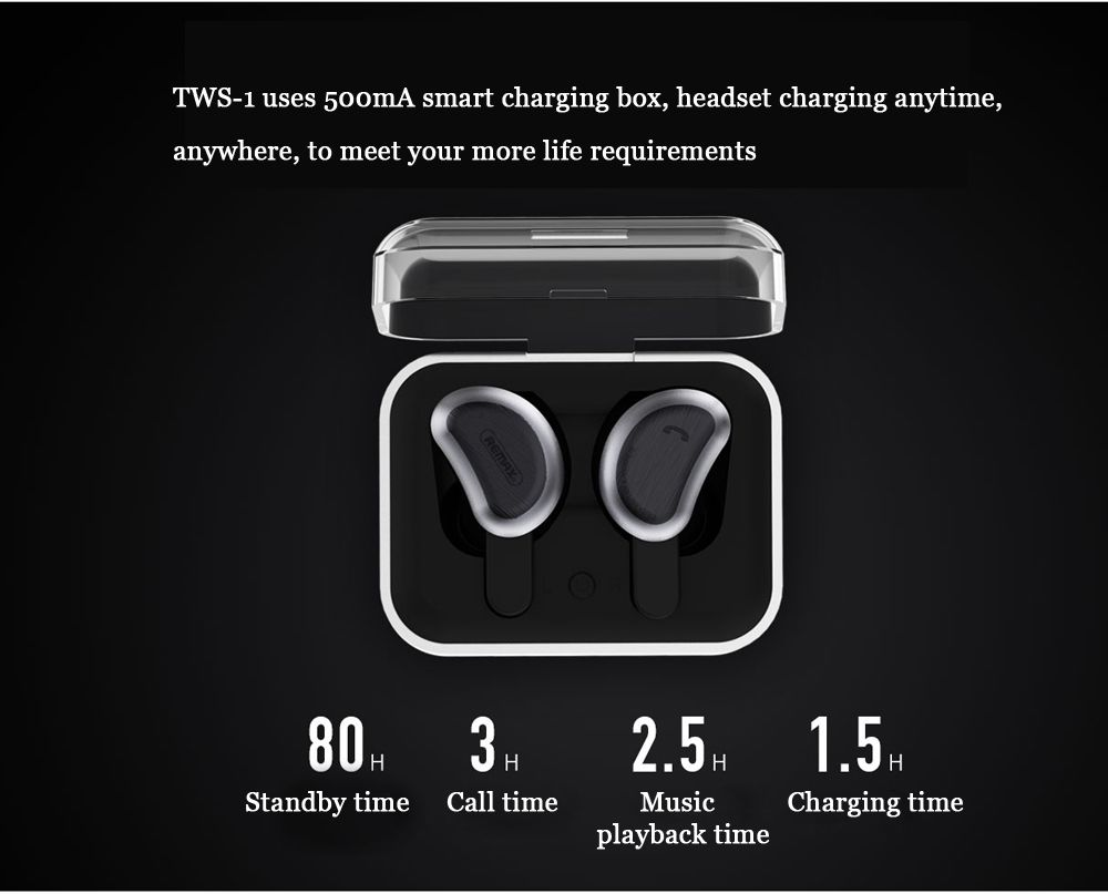 Remax Tws 1 Double Ear Wireless Bluetooth Earphones With Charging Storage Box (4)
