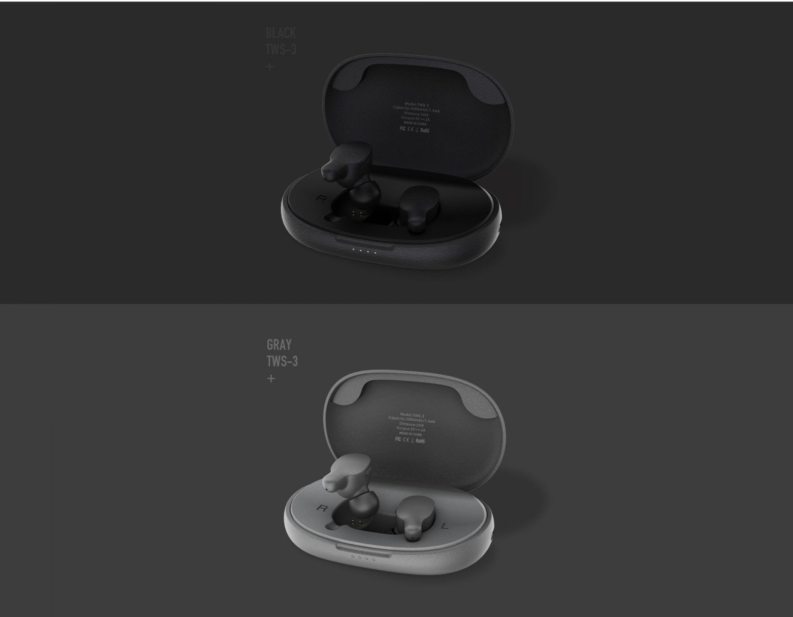 Remax Tws 3 Wireless Earbuds Twins Earphone With Charging Box (5)