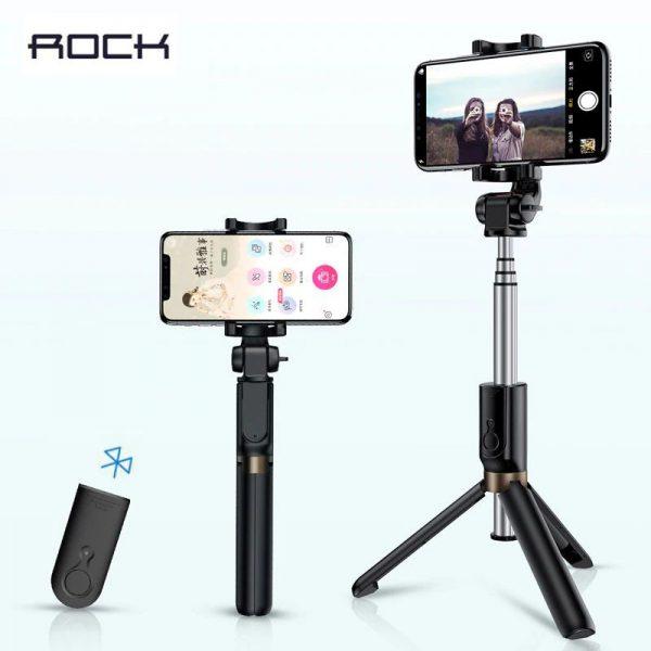 Rock 3 In 1 Bluetooth Mini Selfie Stick With Tripod (1)