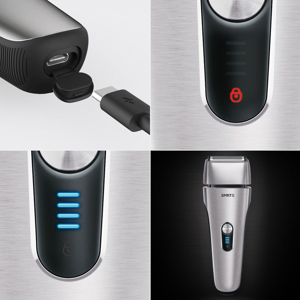 Xiaomi Mijia Smate 4 Blade Electric Razor For Dry And Wet Shave (6)
