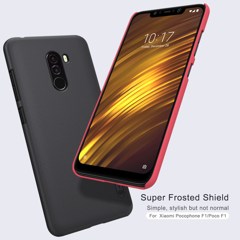 Xiaomi Poco F1 Nillkin Super Frosted Shield Matte Cover Case (1)