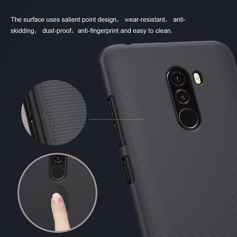 Xiaomi Poco F1 Nillkin Super Frosted Shield Matte Cover Case (5)