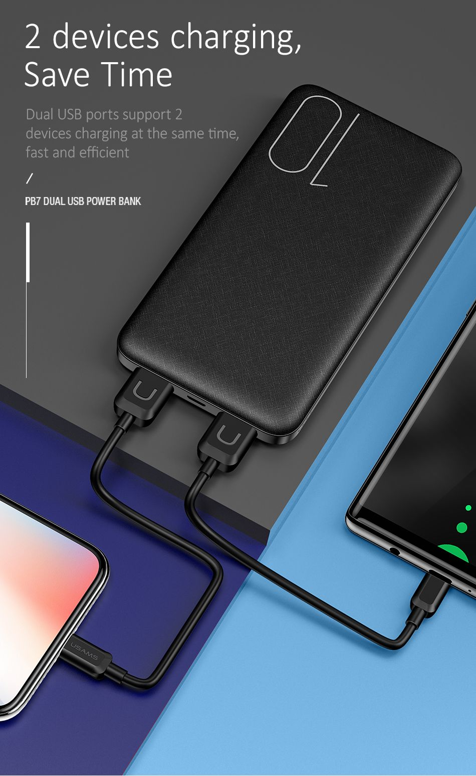 Usams Pb7 10000mah Dual Usb Mini Power Bank (3)