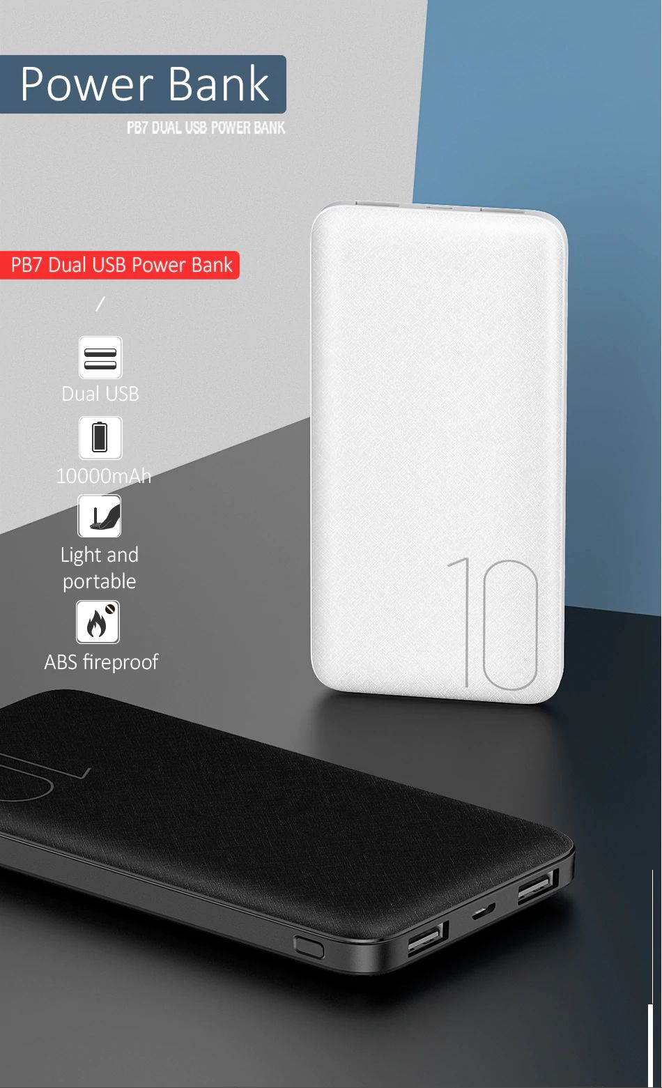 Usams Pb7 10000mah Dual Usb Mini Power Bank (3) 1