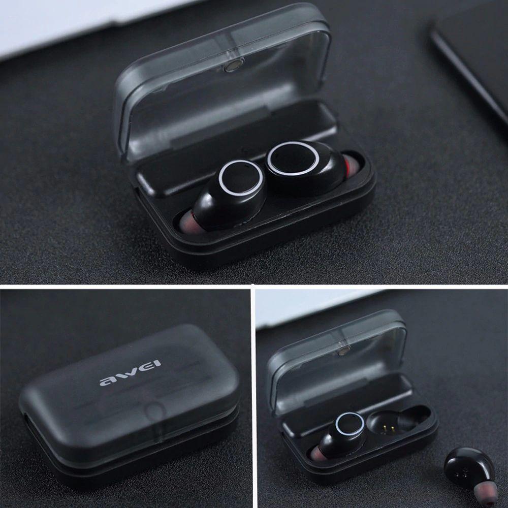 Awei T3 Tws Binaural Bluetooth Earphones Wireless Earbuds (4)