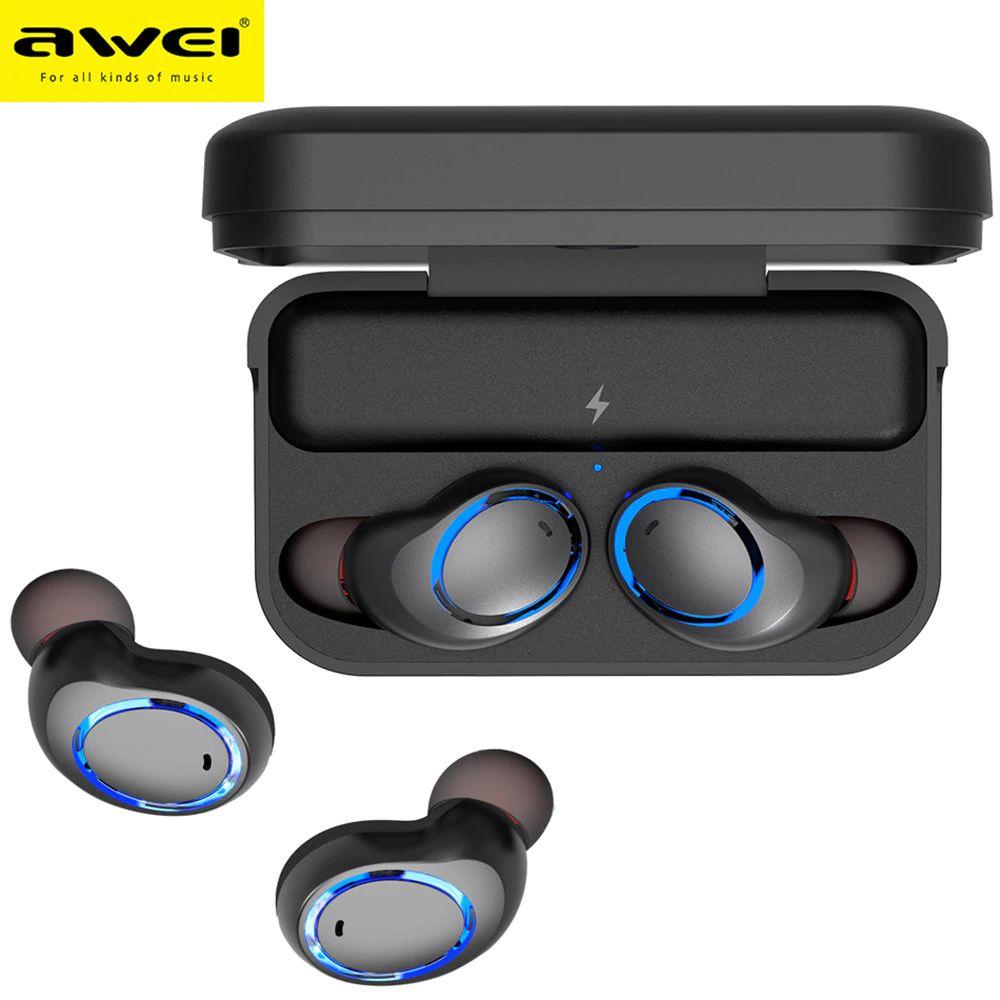 Awei T3 Tws Binaural Bluetooth Earphones Wireless Earbuds (5)