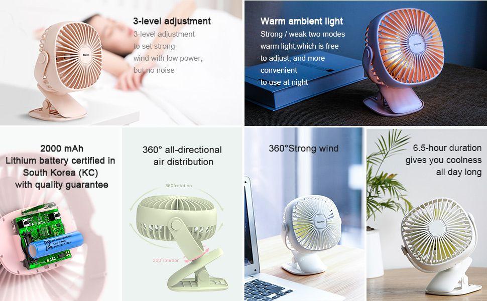 Baseus 2000mah Rechargeable Cooling Fan (1)