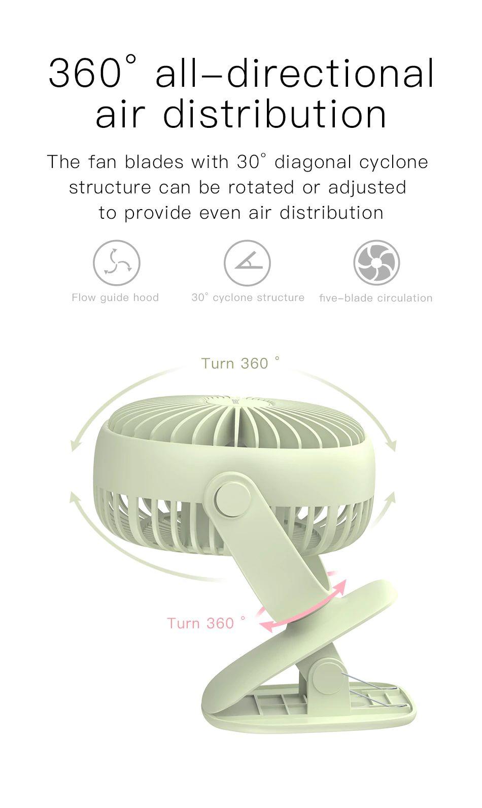 Baseus 2000mah Rechargeable Cooling Fan (11)