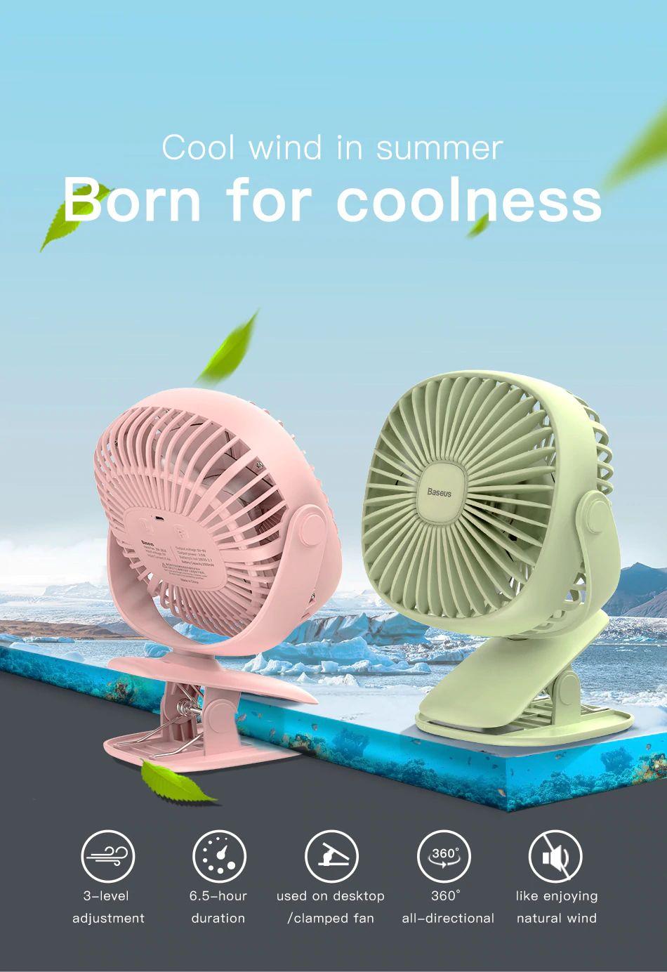 Baseus 2000mah Rechargeable Cooling Fan (12)