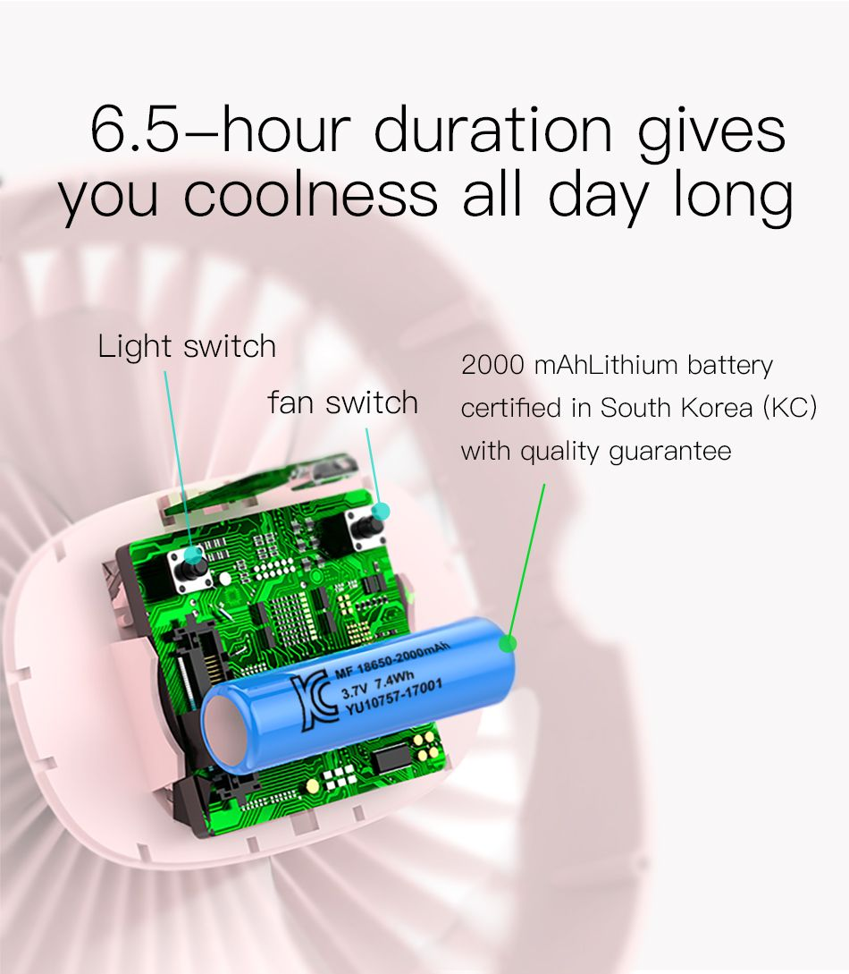 Baseus 2000mah Rechargeable Cooling Fan (2)