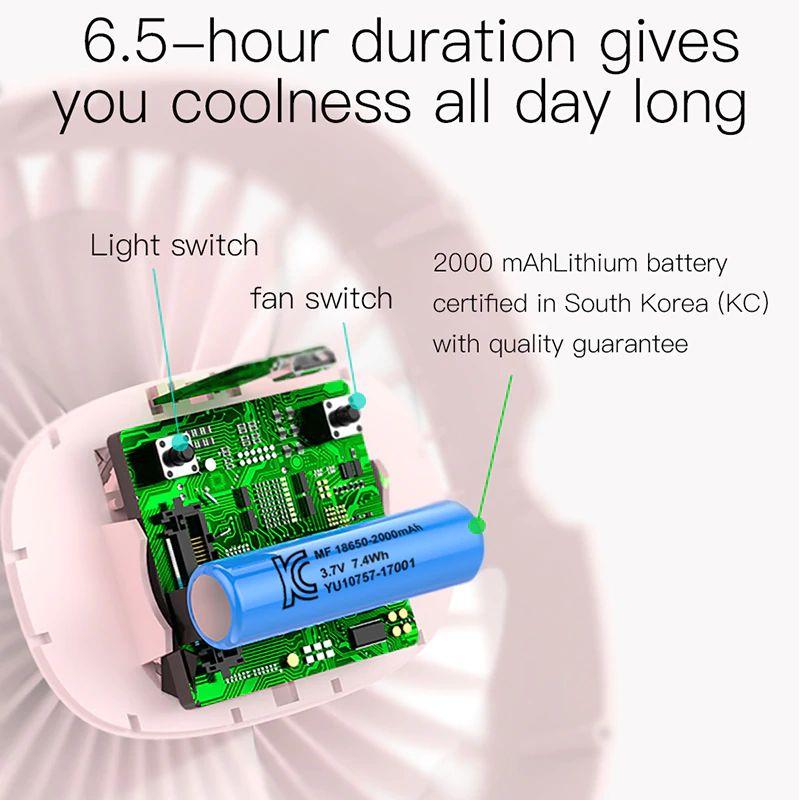 Baseus 2000mah Rechargeable Cooling Fan (5)