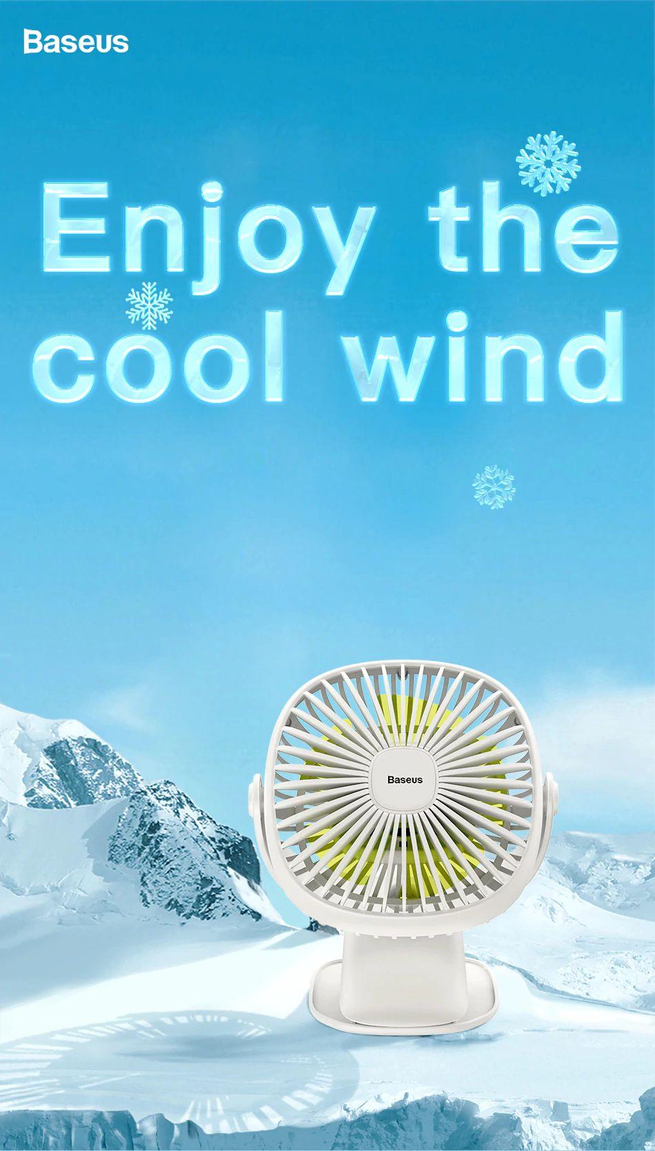 Baseus 2000mah Rechargeable Cooling Fan (7)
