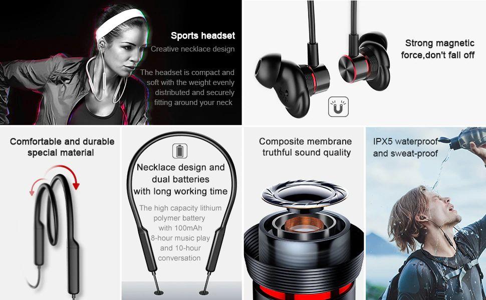 Baseus Encok S12 Bluetooth 5 0 Neckband (17)
