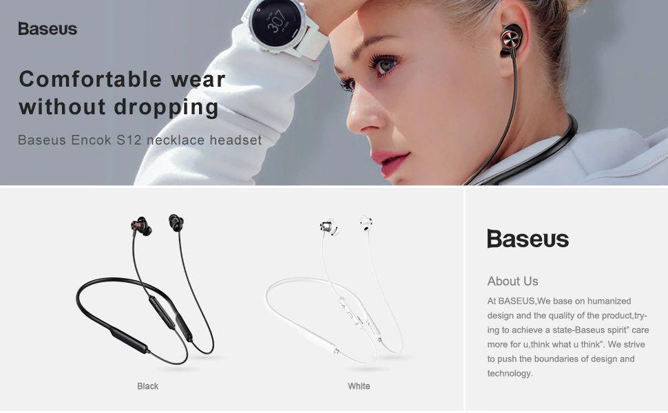 Baseus Encok S12 Bluetooth 5 0 Neckband (4)
