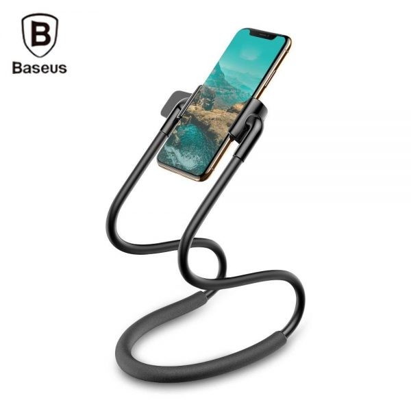 Baseus New Neck Mounted Lazy Bracket Hands Free Phone Holder (6)