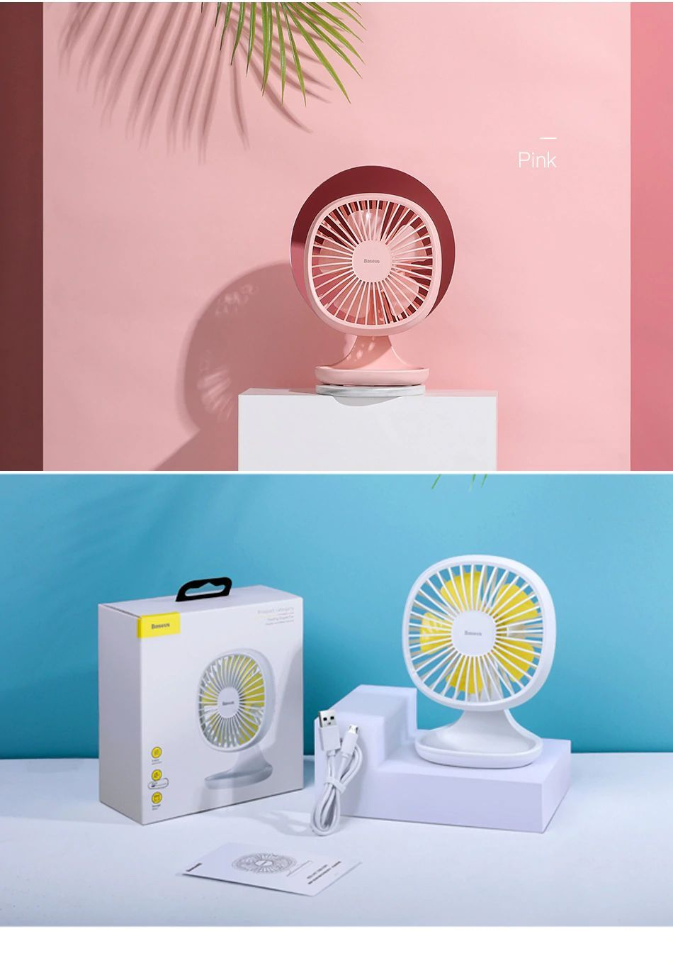 Baseus Portable Usb Fan 3 Speed Mini Fan (20)