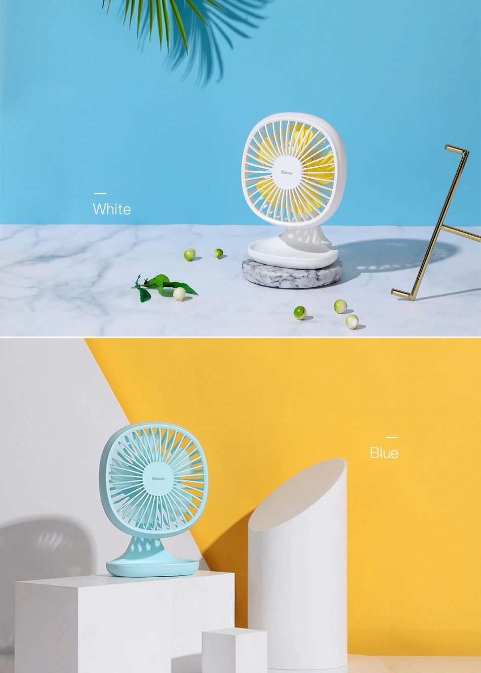 Baseus Portable Usb Fan 3 Speed Mini Fan (9)