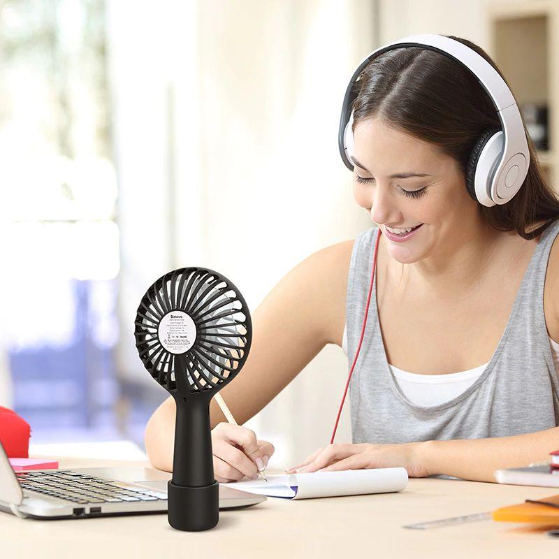 Baseus Protable 3 Speed Mini Usb Rechargeable Fan (6)