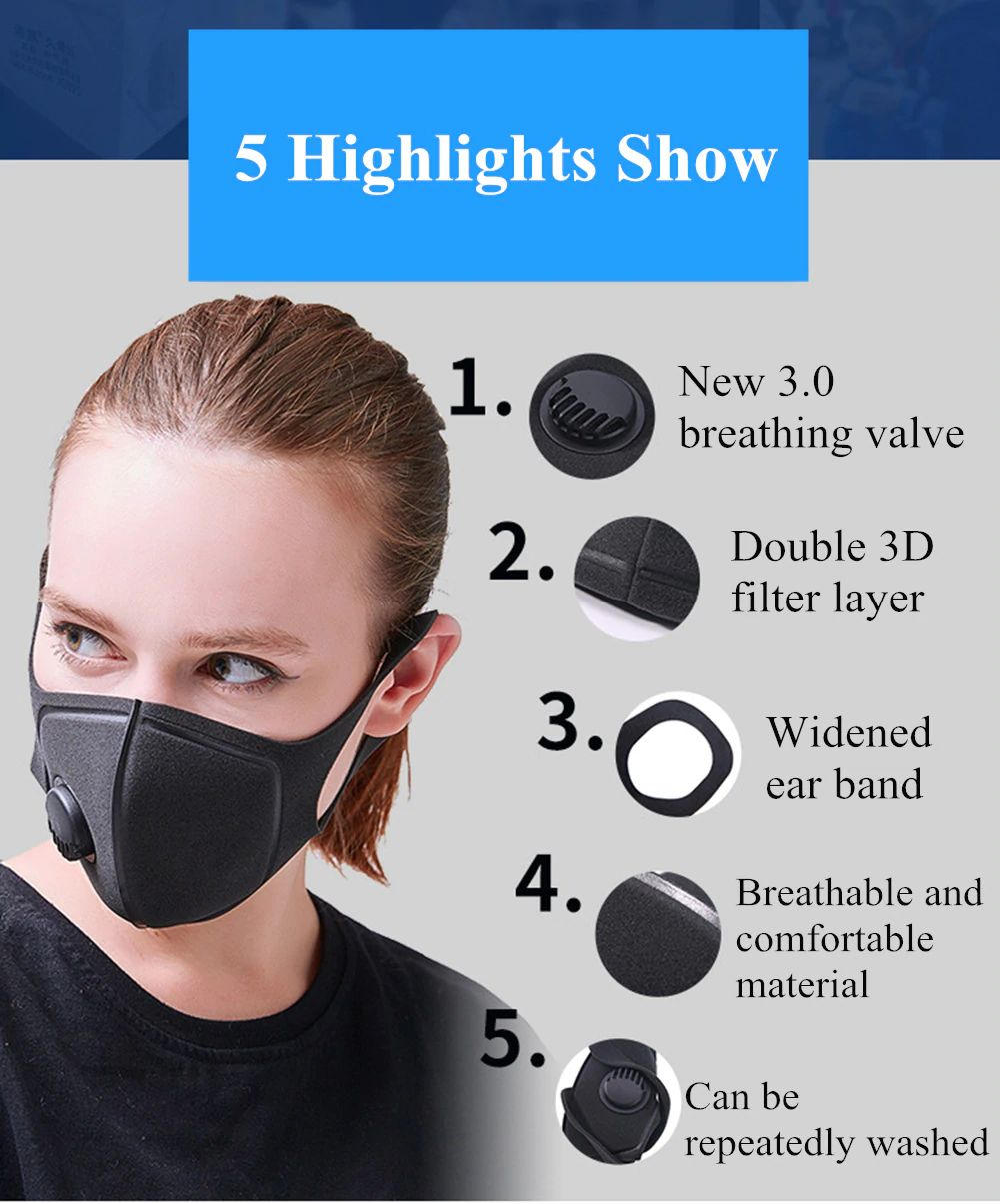 Fashion Dust Mask Upgraded Version For Men Women (4)