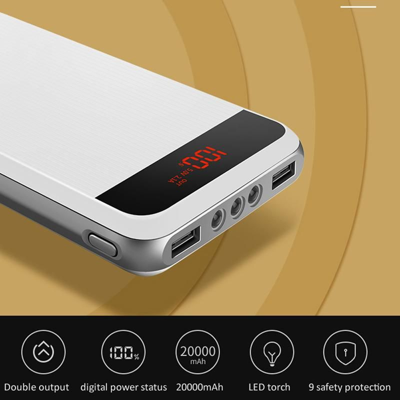Mopoer 20000mah Dash Charging Dual Port Triple Led Light Powerbank (8)