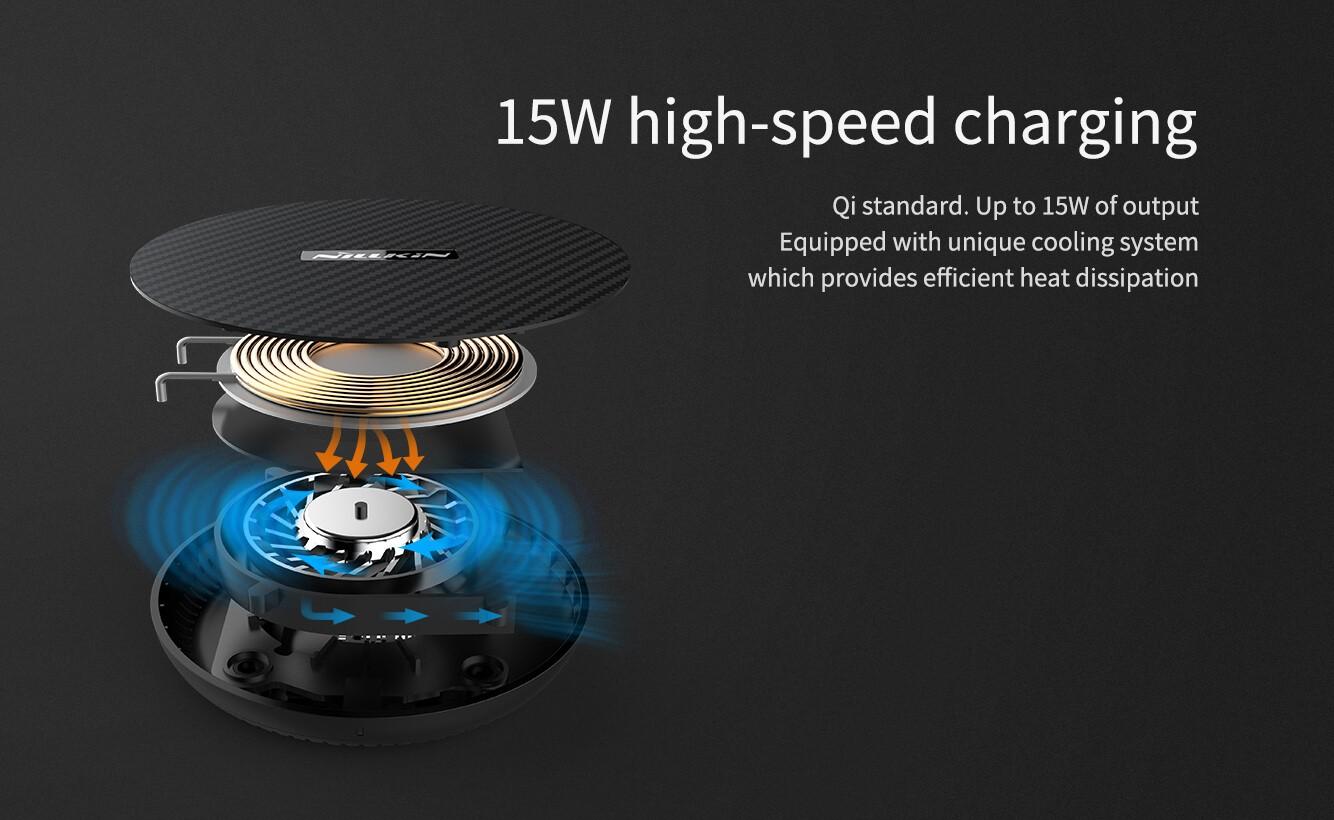 Nillkin Powerflash 15w Wireless Charger Aramid Fiber (3)