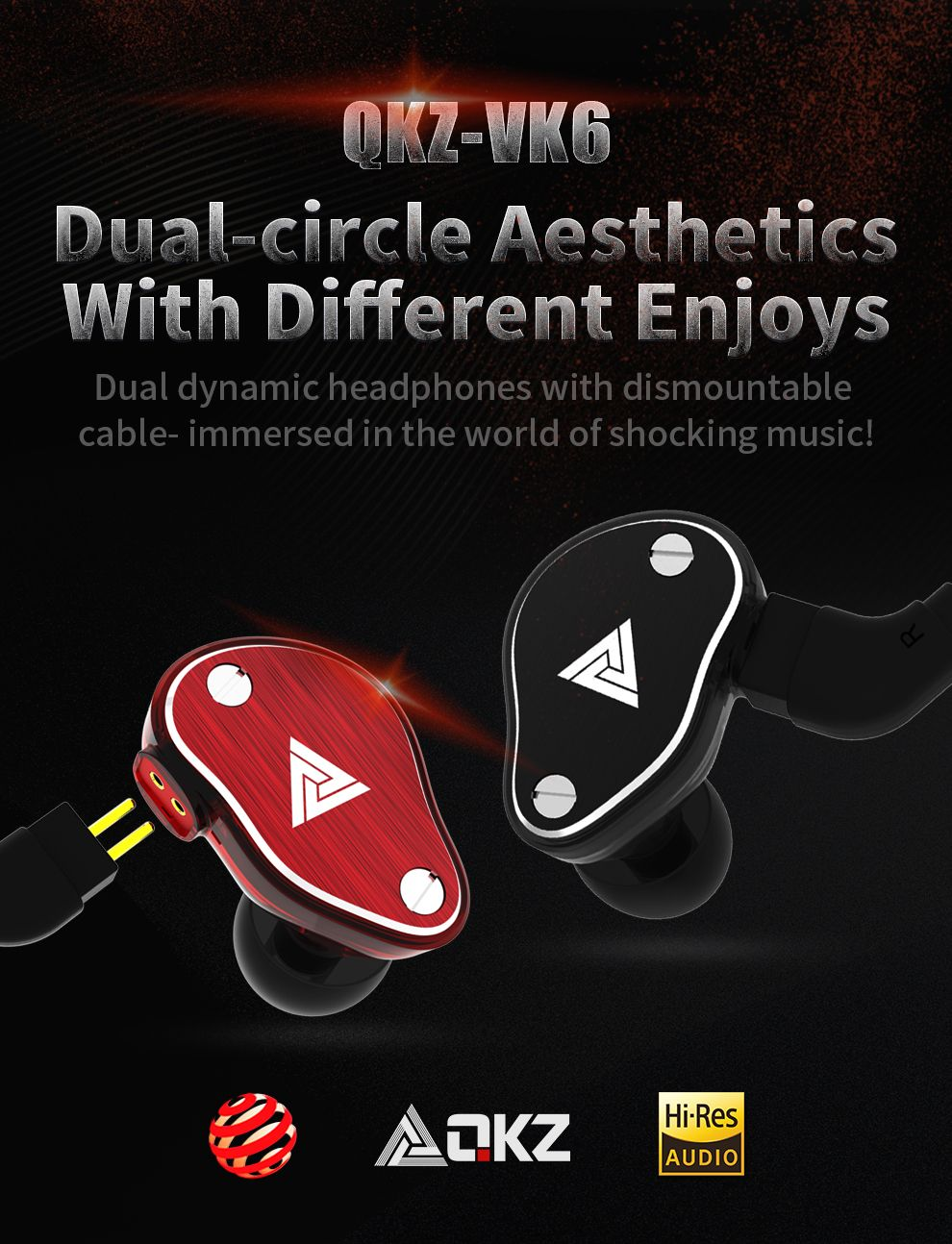 Qkz Vk6 4 Dynamic Hybrid In Ear Earphone (12)