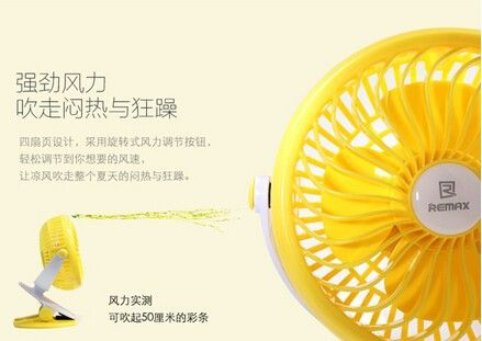 Remax F2 Rechargeable Portable Usb Mini Fan 360 Degrees Rotating (2)