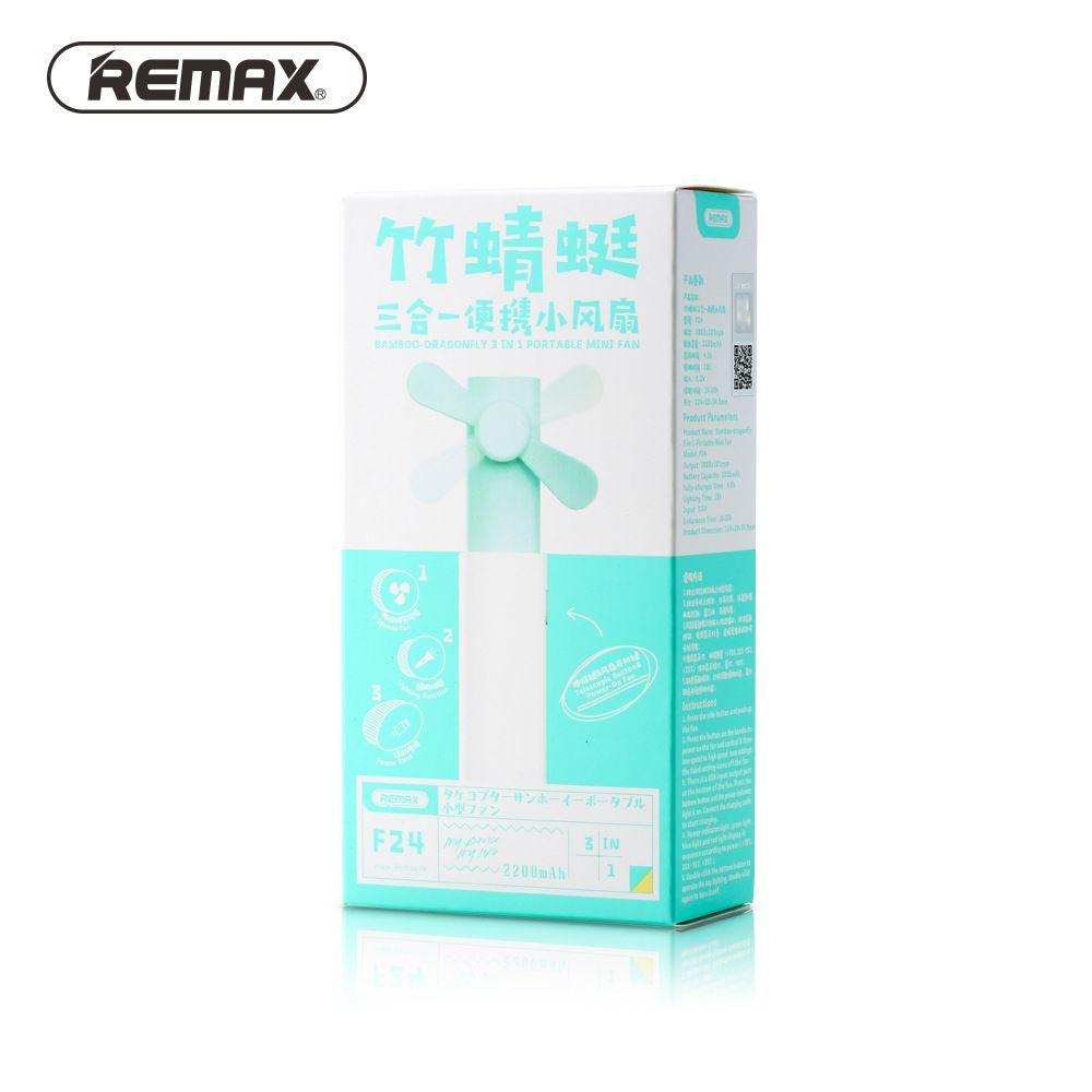 Remax F24 3 In 1 Portable Mini Fan Power Bank Led Light (11)