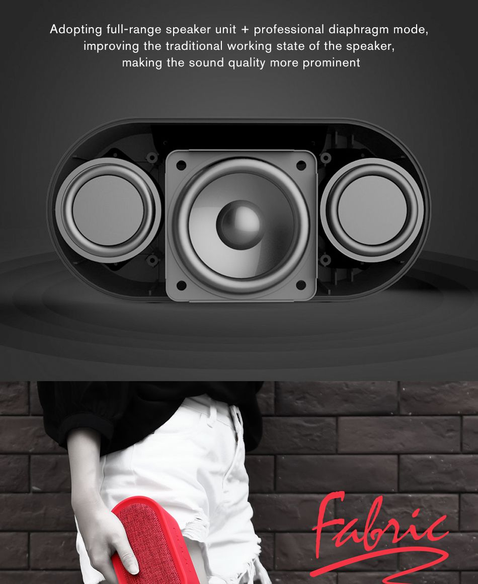 Remax M11 Portable Wireless Fabric Bluetooth Speaker (2)